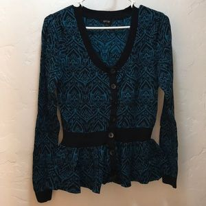 Black and Blue Pattern Sweater